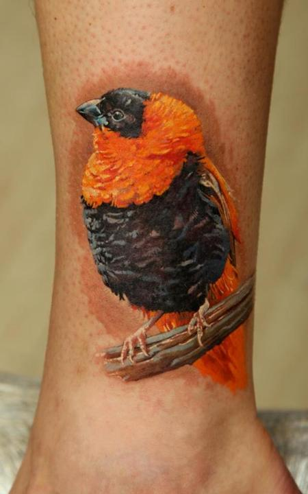 African Bird Tattoo Design